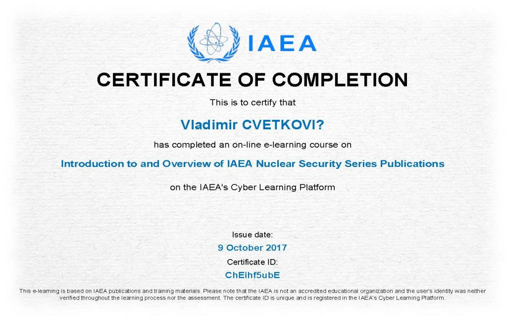 Introduction to and Overview of IAEA Nuclear Security Series
