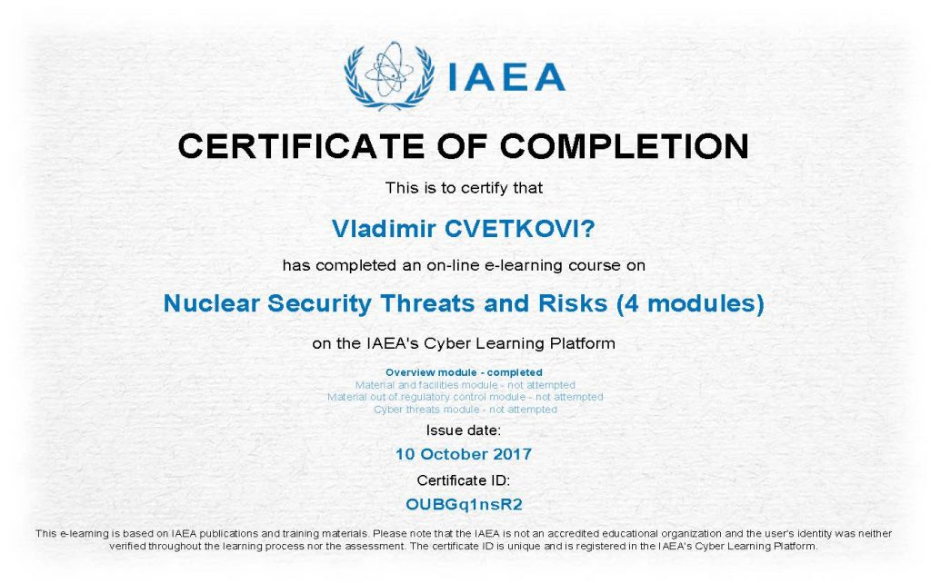 Nuclear Security Threats and Risks_Certificate